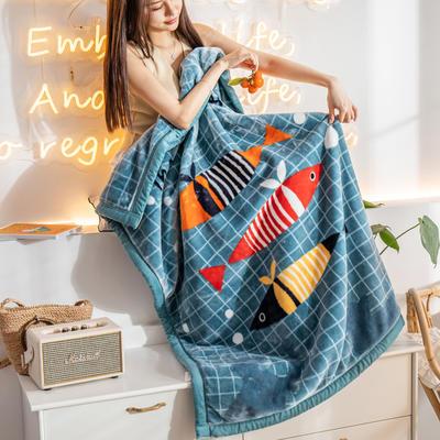 云毯 午睡毯 毛毯子 150*200cm(实重3.8斤) 鱼忆三秒