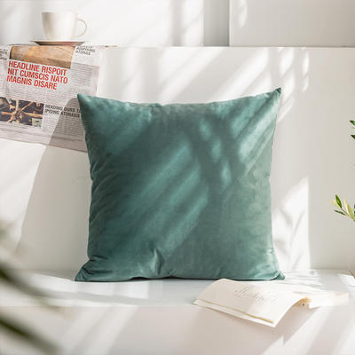 柠栀家纺 丽丝绒抱枕 方枕 腰枕 40x40cm(抱枕套不含芯) 松石绿