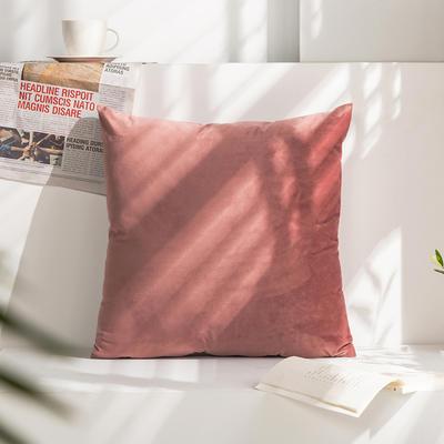 柠栀家纺 丽丝绒抱枕 方枕 腰枕 40x40cm(抱枕套不含芯) 豆沙红