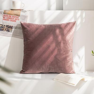 柠栀家纺 丽丝绒抱枕 方枕 腰枕 40x40cm(抱枕套不含芯) 罗兰紫