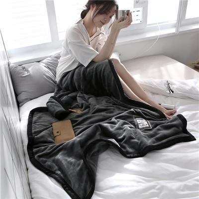 560克午睡毯 法莱绒小毛毯子 100cmX150cm 绅士灰