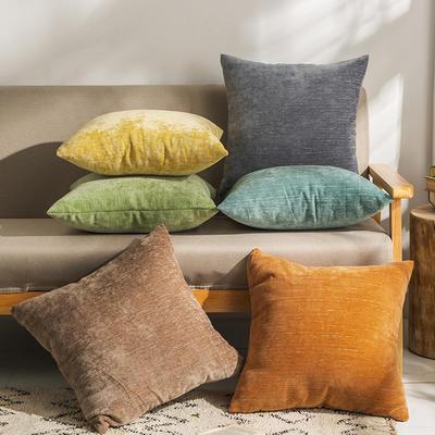柠栀家纺 暖绒抱枕 方枕 30X50cm(腰枕套不含芯) 暖灰