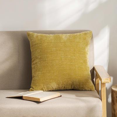 柠栀家纺 暖绒抱枕 方枕 30X50cm(腰枕套不含芯) 暖黄