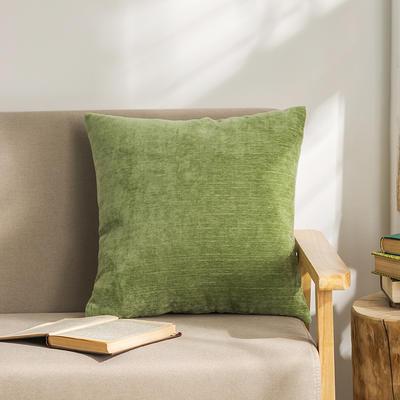 柠栀家纺 暖绒抱枕 方枕 30X50cm(腰枕套不含芯) 暖绿