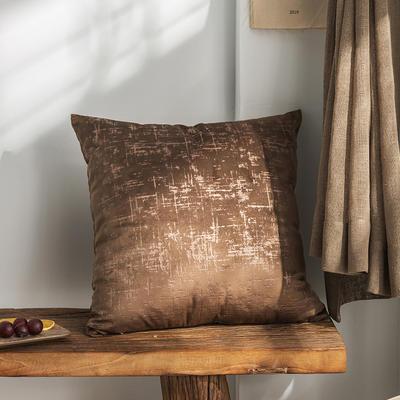柠栀家纺 烫金款抱枕 方枕 30X50cm(腰靠套不含芯) 烫金咖