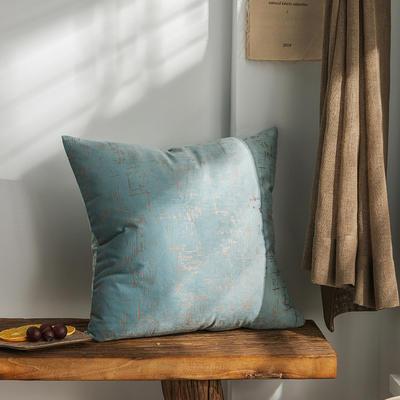 柠栀家纺 烫金款抱枕 方枕 30X50cm(腰靠套不含芯) 烫金蓝