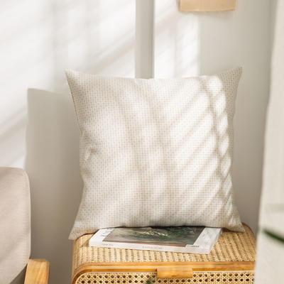 柠栀家纺 高克重防麻点点款抱枕套 抱枕芯 30X50cm(腰靠套不含芯) 点白