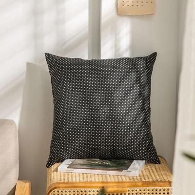 柠栀家纺 高克重防麻点点款抱枕套 抱枕芯 30X50cm(腰靠套不含芯) 点黑