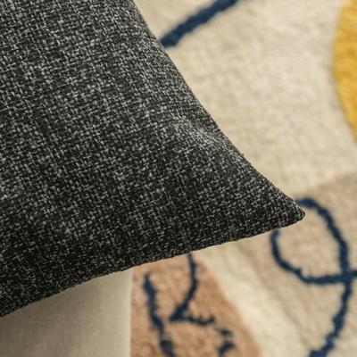 柠栀家纺 高克重迷宫格款抱枕套 抱枕芯 30x50cm(腰靠套不含芯) 迷黑