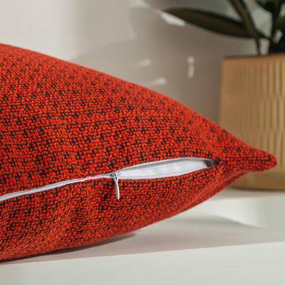 柠栀家纺 高克重迷宫格款抱枕套 抱枕芯 30x50cm(腰靠套不含芯) 迷红