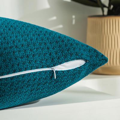 柠栀家纺 高克重迷宫格款抱枕套 抱枕芯 30x50cm(腰靠套不含芯) 迷蓝