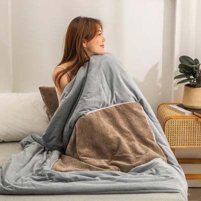 柠栀家纺 暖绒款抱枕被  里料水晶绒 40X40cm(打开110x140cm) 抱枕被-暖咖