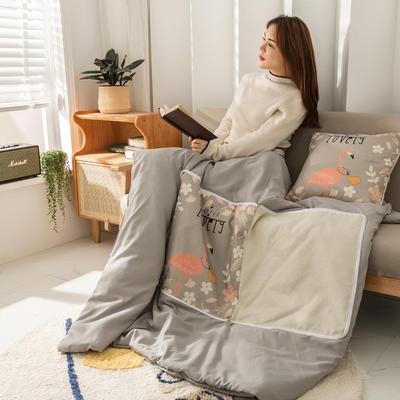 柠栀家纺 高克重数码印花抱枕被 40X40cm(打开110x140cm) 抱枕被-火鸟
