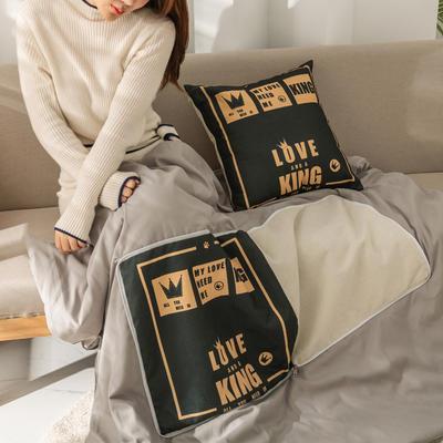柠栀家纺 高克重数码印花抱枕被 40X40cm(打开110x140cm) 抱枕被-英伦