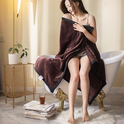 柠栀家纺 380克绣花法莱绒毛毯 午睡毯 童毯 100x150cm 酒红