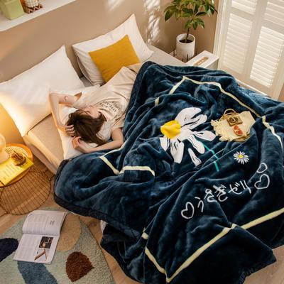 2020新款大版花经编拉舍尔毛毯 加厚双层单人双人毯子秋冬季婚庆盖毯被子 150cmX200cm重量5斤 空谷幽兰
