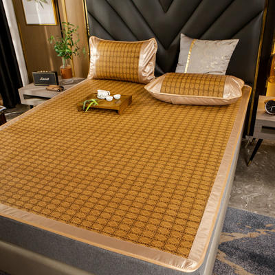 柠栀家纺   2021年新款藤席 凉席 席子  建议用副标题里面的百度网盘下载图片 1.0m(3.3英尺)床 欧典格子