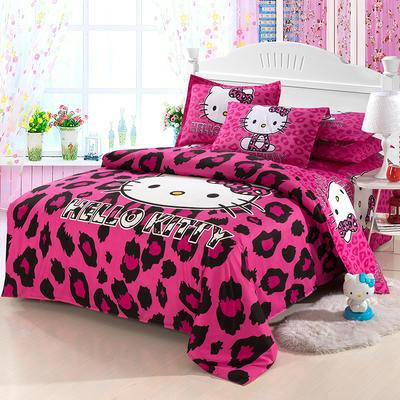 2018KT猫四件套 1.5m床单款 紫色的诱惑