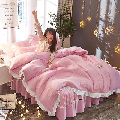 2018韩版多功能四件套 1.5m(5英尺)床(含包装) 粉色