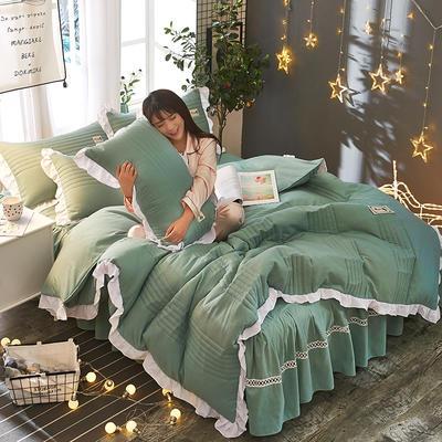 2018韩版多功能四件套 1.8m(6英尺)床(含包装) 绿色
