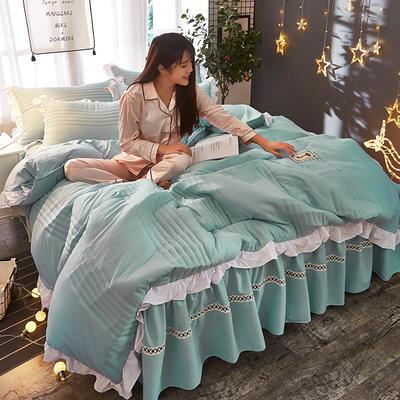 2018韩版多功能四件套 1.8m(6英尺)床(含包装) 浅蓝色