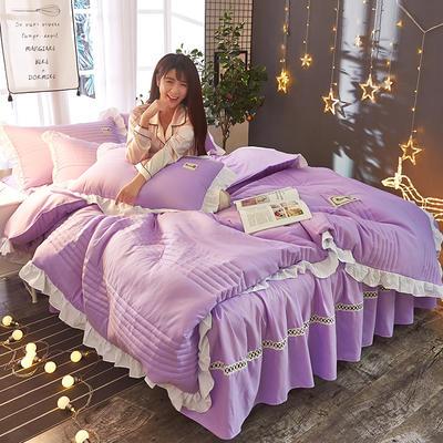 2018韩版多功能四件套 1.8m(6英尺)床(含包装) 浅紫色