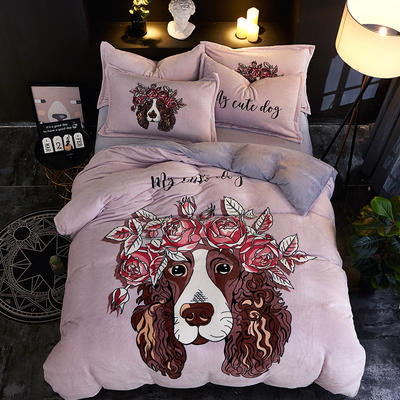 2019大版卡通法莱绒牛奶绒床单床笠情侣款四件套 床单款1.2m(4英尺)床 出类拔萃