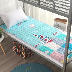 尊辉家纺 2018爆款亲肤活性磨毛软床垫褥子保护垫薄垫床护垫榻榻米 一帆风顺 0.9m(3.3英尺)床 一帆风顺