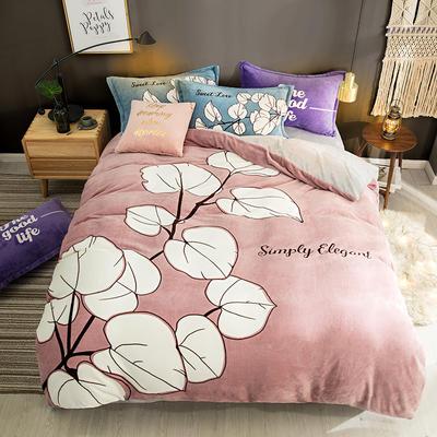 2019新款-法莱绒印花卡通大版四件套 1.5m(5英尺)床/床单款 初见