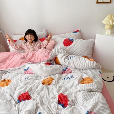 2019新款魔法绒印花四件套 1.2m床单款三件套 水果派