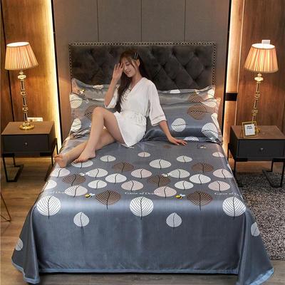 2020新款冰丝凉席床单款三件套 1.8/2.0床250*250cm三件套 素影