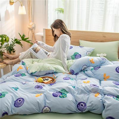 2020新款A类针织棉四件套 1.2m床单款三件套 蓝莓物语