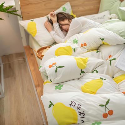 2020新款A类针织棉四件套 1.2m床单款三件套 蜜梨