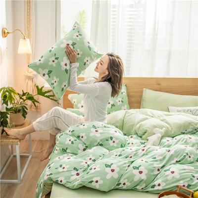 2020新款A类针织棉四件套 1.2m床单款三件套 夏槿