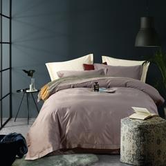 2019新款100支长绒棉纯色四件套 1.5m(5英尺)床 100支长绒棉纯色-棕灰色