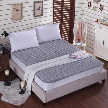 剪花法莱绒加厚床褥床垫秋冬褥子防滑床护垫可水洗