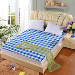 2018新款-法莱绒床褥床垫可机洗床护垫学生保暖床垫 0.9*2m 蓝白格