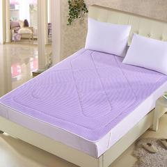3D透气床垫地铺垫床褥【床席】 0.9*2m 浅紫