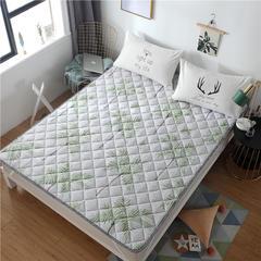 2019新品 斜纹活性印花床褥 可机洗榻榻米床垫席梦思床护垫 0.9*2米 大树