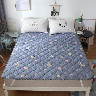 2019新品 斜纹活性印花床褥 可机洗榻榻米床垫席梦思床护垫 0.9*2米 水果大全