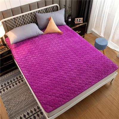 法莱绒床护垫可水洗床垫保暖薄床褥学生榻榻米垫子 0.9*2米 紫色