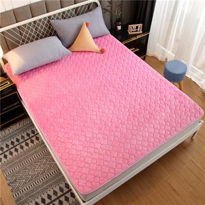 法莱绒床护垫可水洗床垫保暖薄床褥学生榻榻米垫子 0.9*2米 粉色