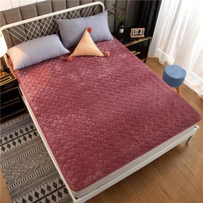 法莱绒床护垫可水洗床垫保暖薄床褥学生榻榻米垫子 0.9*2米 豆沙