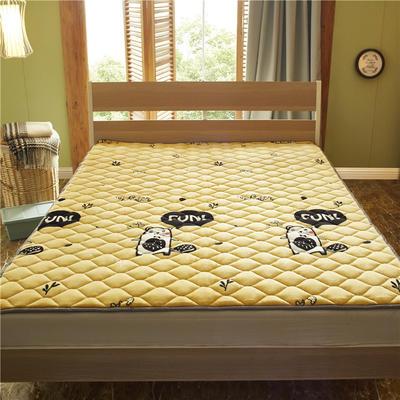 2019新款 牛奶绒床垫 防滑床褥可机洗褥子 冬季保暖床护垫爬爬垫 0.9*2米 欢乐地鼠