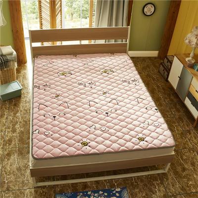 2019新款 牛奶绒床垫 防滑床褥可机洗褥子 冬季保暖床护垫爬爬垫 0.9*2米 猫咪