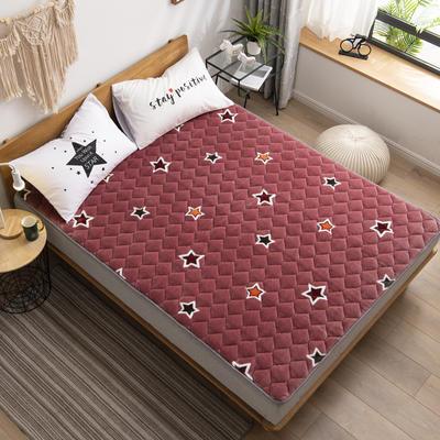 2019新款 牛奶絨床墊 防滑床褥可機洗褥子 冬季保暖床護墊爬爬墊 0.9*2米 星光