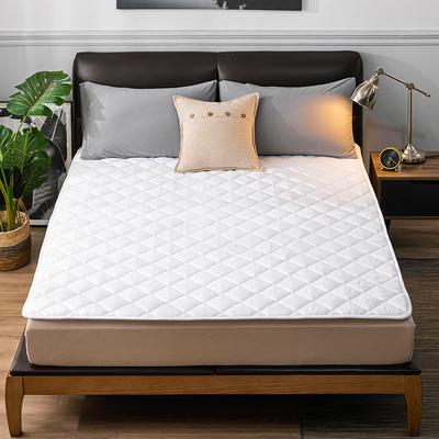 2020新品 親膚磨毛床墊可機洗床褥子特價床護墊席夢思保護墊 0.9*2.0m 簡約白