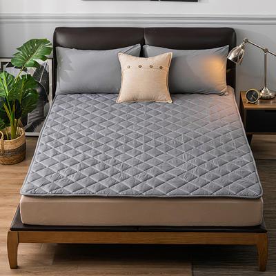 2020新品 親膚磨毛床墊可機洗床褥子特價床護墊席夢思保護墊 0.9*2.0m 簡約灰