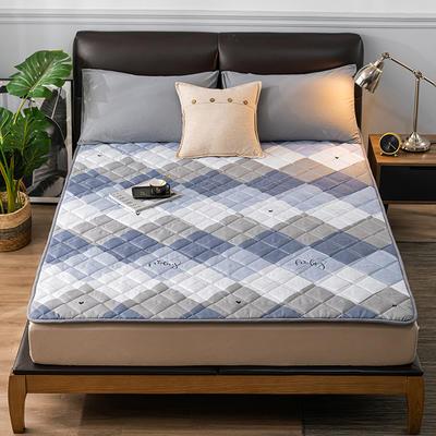 2020新品 親膚磨毛床墊可機洗床褥子特價床護墊席夢思保護墊 0.9*2.0m 云奇幻人生