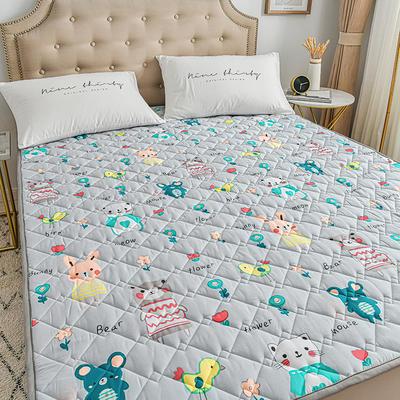 2020新品 全棉可机洗床垫 榻榻米防滑床褥子四季床护垫 薄垫被 0.9*2m 布洛尼